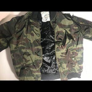 Jackets & Blazers - Camouflage bomber jacket (unisex)